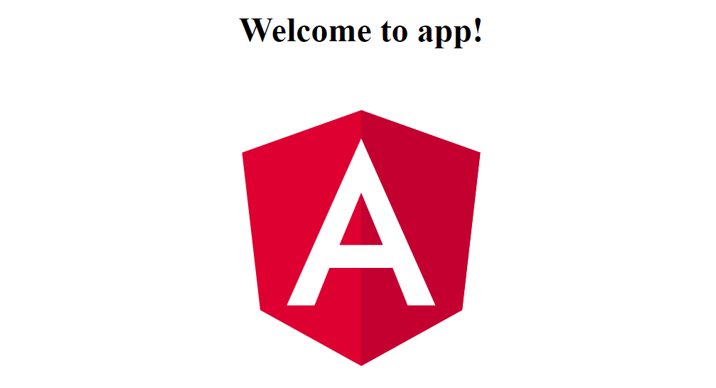 angular 4 welcome page