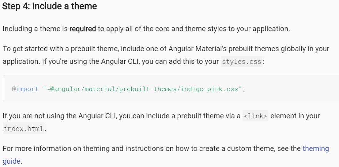 step 4 for adding angular material