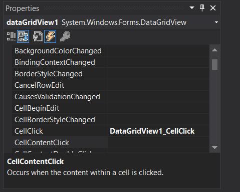 datagrid event